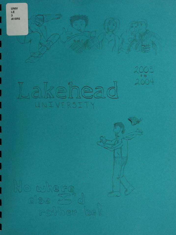 Lakehead University Yearbook Cover from 2004