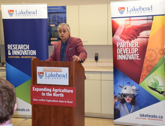 Photo of MPP Bill Mauro making the important announcement.