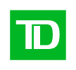 The letters T and D are displayed in white on a bright green square. The logo for TD bank.