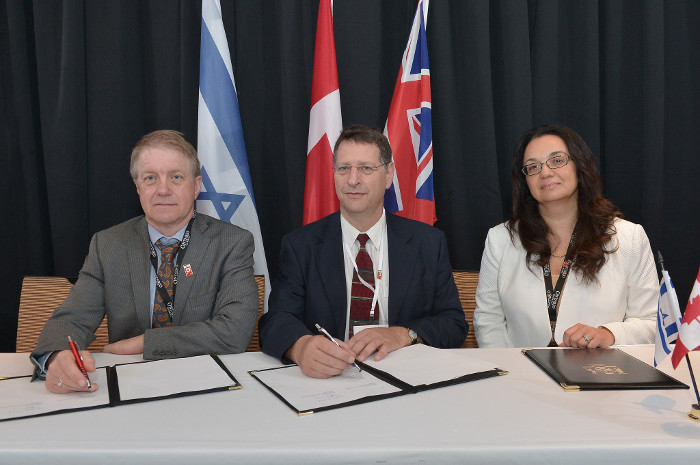 Photo of Israel MOU Signing.