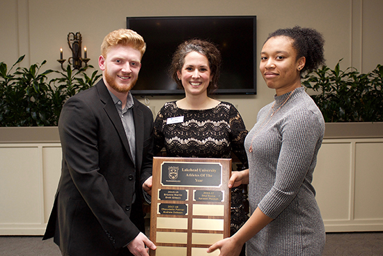 Lakehead Orillia male and female athlete of the year