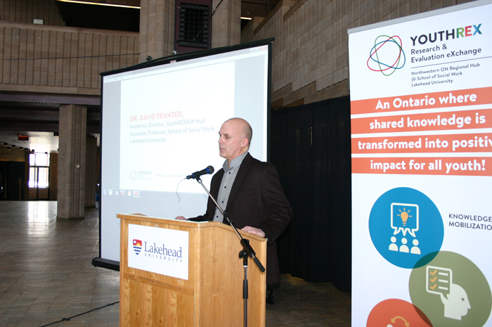 Dr. David Tranter, Associate Professor in Lakehead's School of Social Work, participated in the launch of YouthREX.