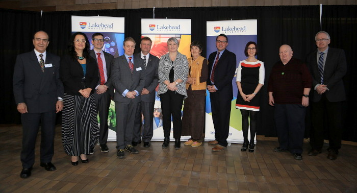 Photo of participants from the launch of Lakehead's Research and Innovation Week