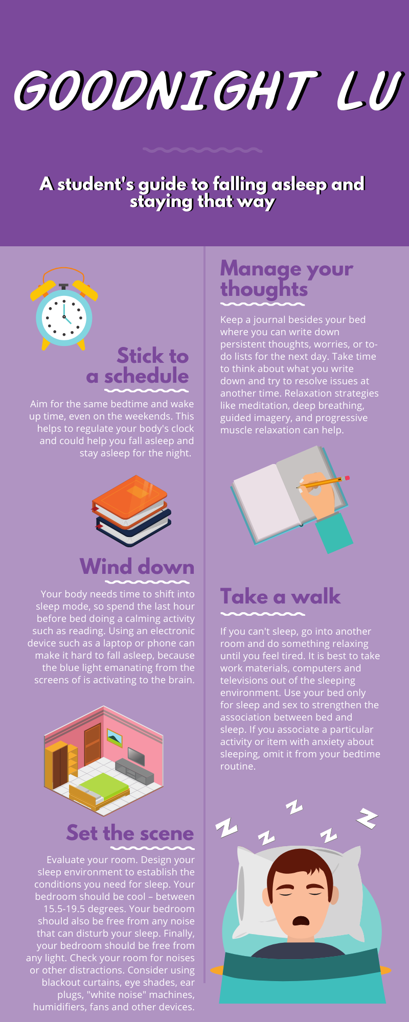Sleep habits infographic. This is bad to have on our website.