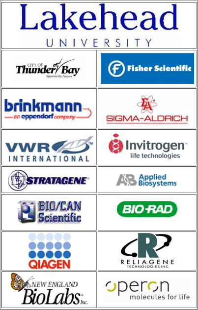 Sponsors for the Ancient DNA Training Program