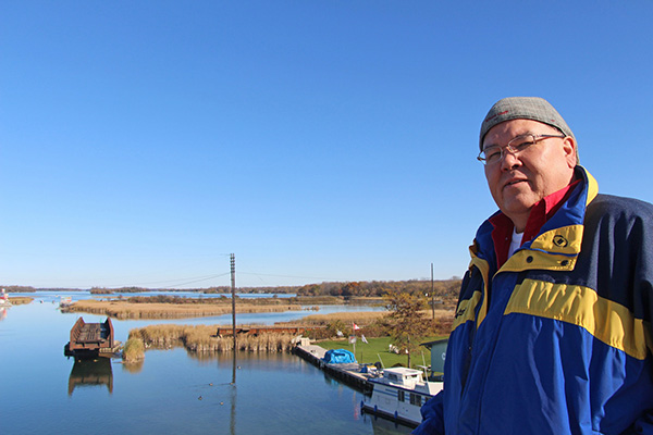 David Snake, Lakehead Orillia's Aboriginal Liaison Advisor and organizer of the University's Aboriginal Speaker Series, is shown at the Narrows in Orillia.