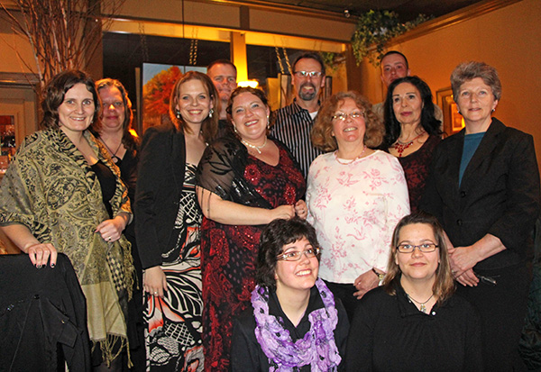 Graduates of Lakehead University's Humanities 101 program gathered for a convocation dinner and celebration last night at Orillia's Era 67 Restaurant.