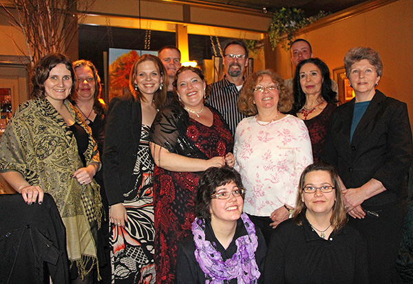 Members of the 2014 Humanities 101 graduating class with program organizer, Dr. Linda Rodenburg (far left).