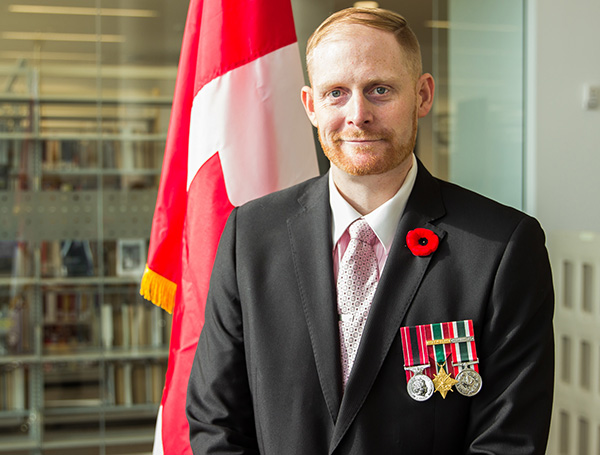 Josh Briand, a Social Work student at Lakehead and a Canadian Forces veteran, hopes to apply his training and education to providing holistic treatment to those suffering from post-traumatic stress disorder (PTSD).