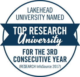 Lakehead University named top research university for the third consecutive year by Re$earch InfoSource 2017