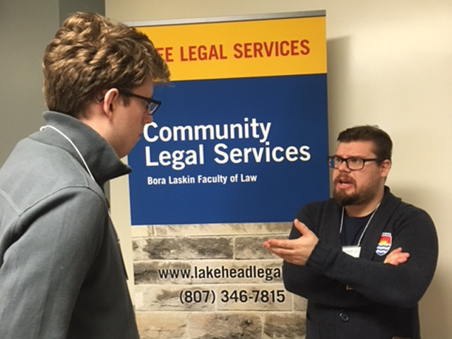 A new student learning about our community legal services