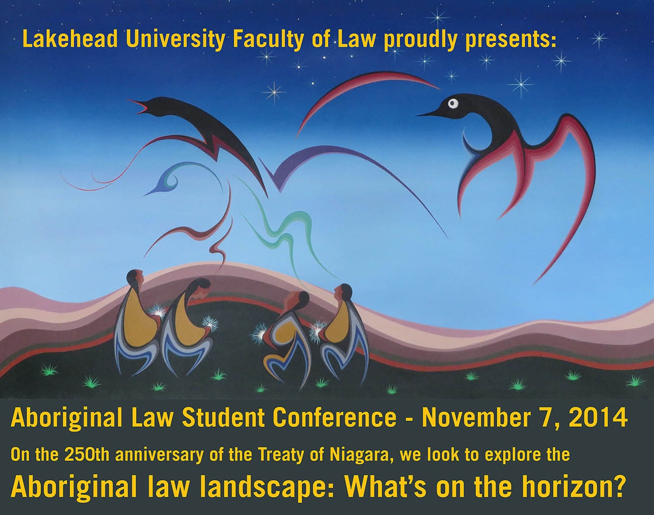 Aboriginal Law conference poster