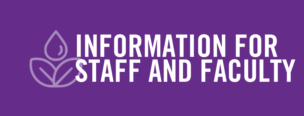 Information for staff and faculty