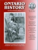 Cover Image of Special Issue of Ontario History