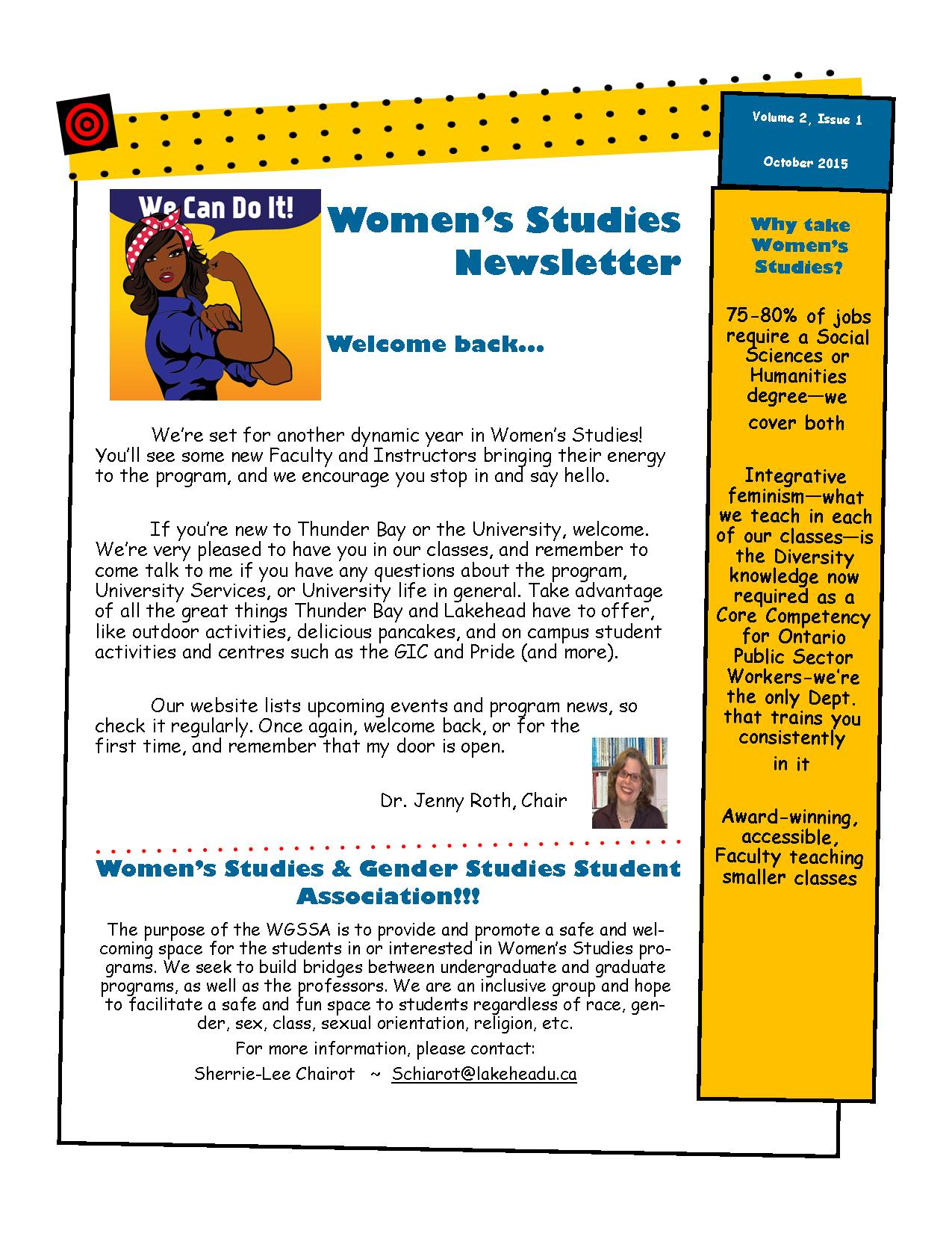 Women's Studies Newsletter