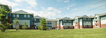 Exterior view of some of our housing at lakehead.