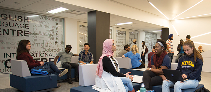 Students in the International Student Centre