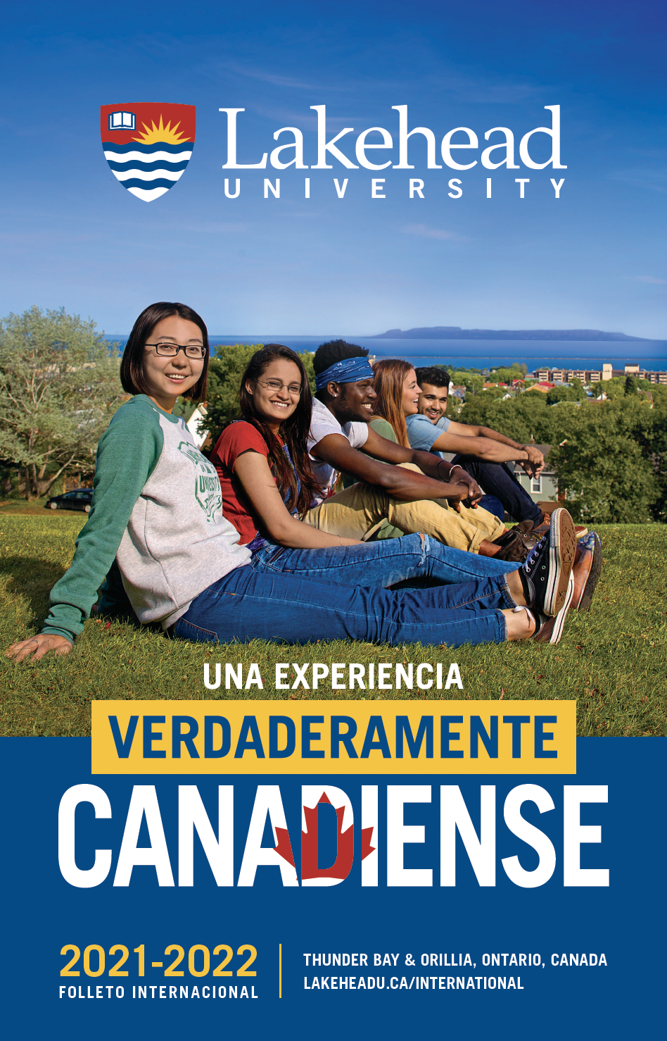 The cover of the 2021 Lakehead International Brochure in Spanish.
