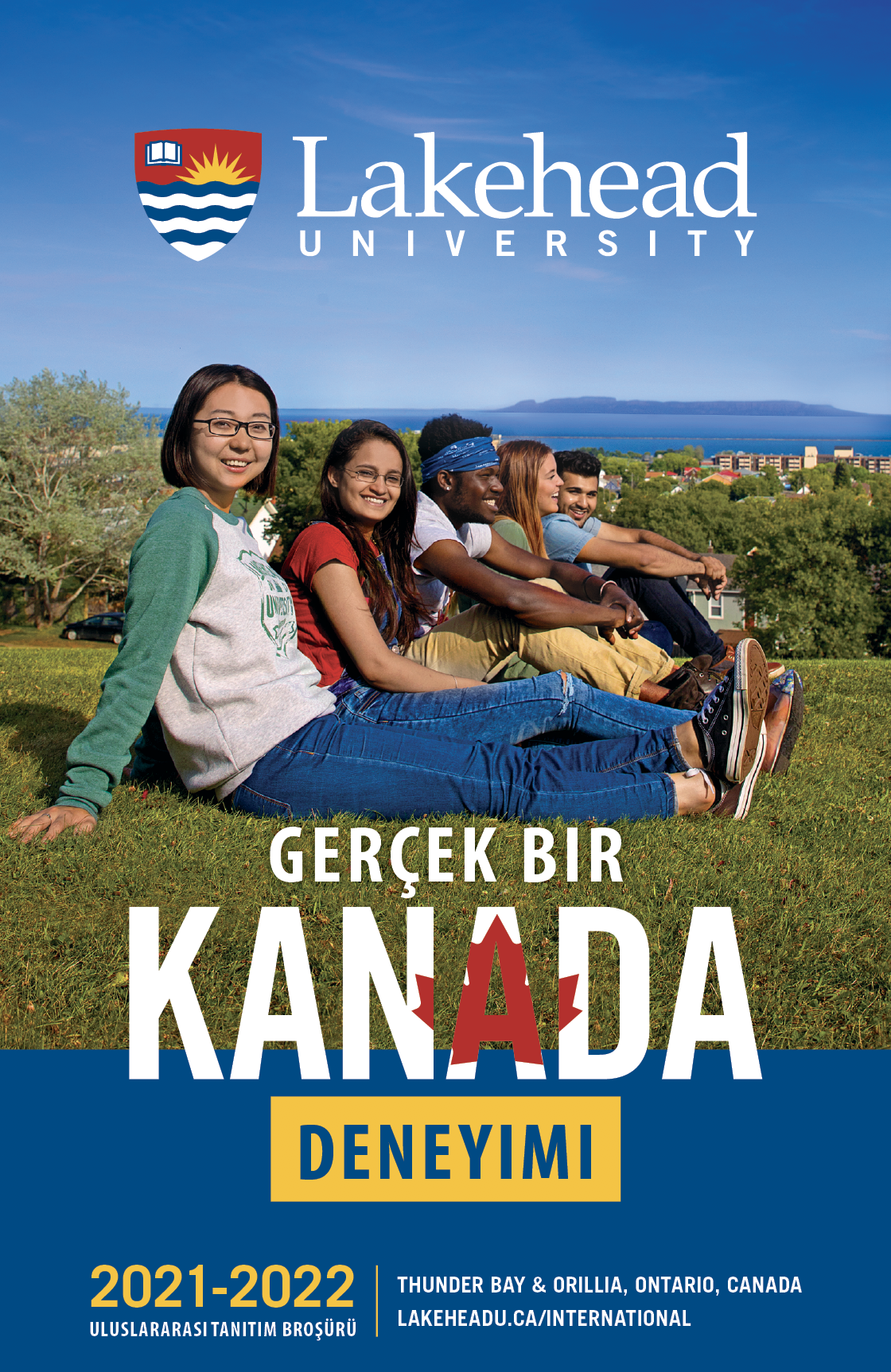 The cover of the 2021 Lakehead International Brochure in Turkish.