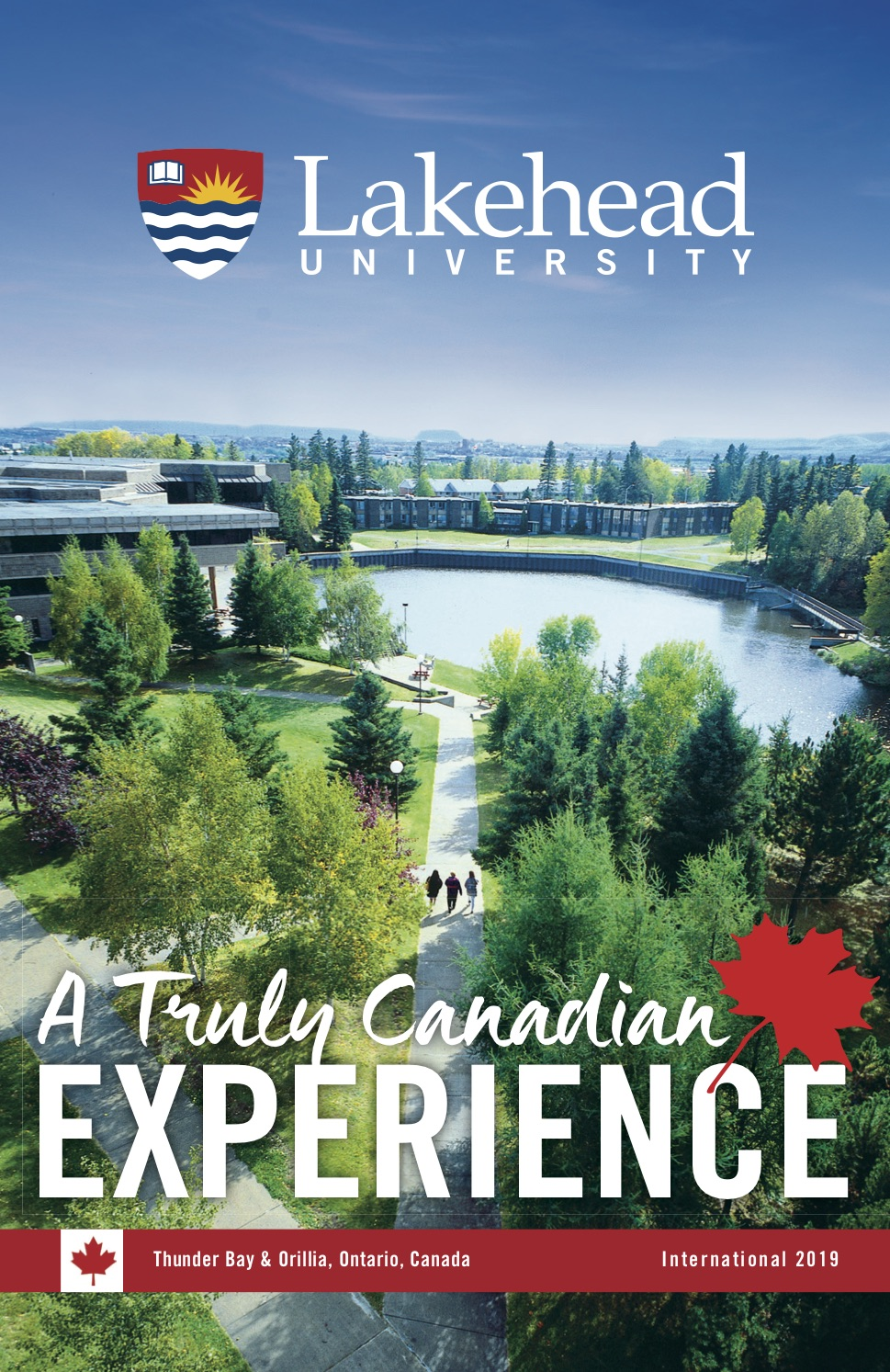 The cover of the 2019 Lakehead International Brochure in English.