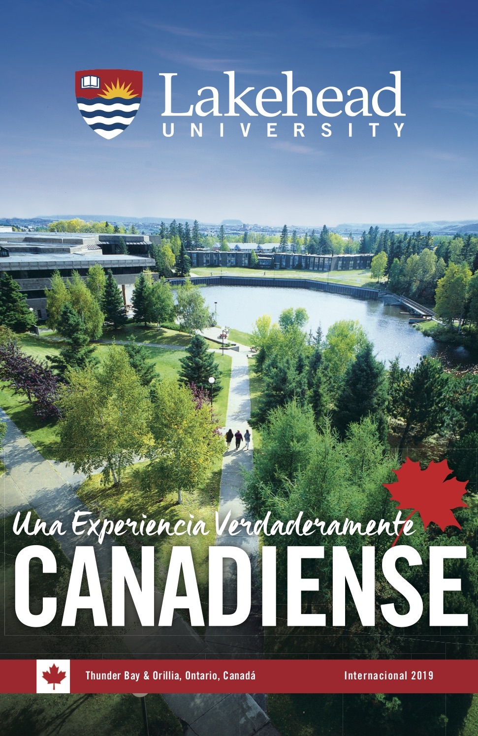 The cover of the 2017 Lakehead International Brochure in Spanish.