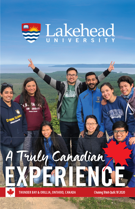 The cover of the 2020 Lakehead International Brochure in Vietnamese.