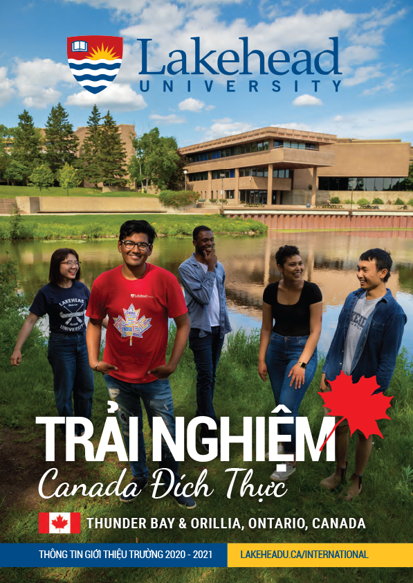 The cover of the 2019 Lakehead International Brochure in Vietnamese.