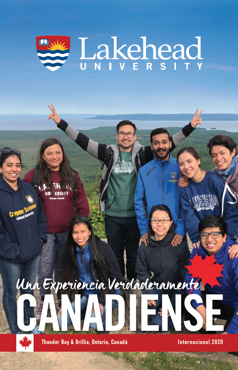 The cover of the 2020 Lakehead International Brochure in Spanish.