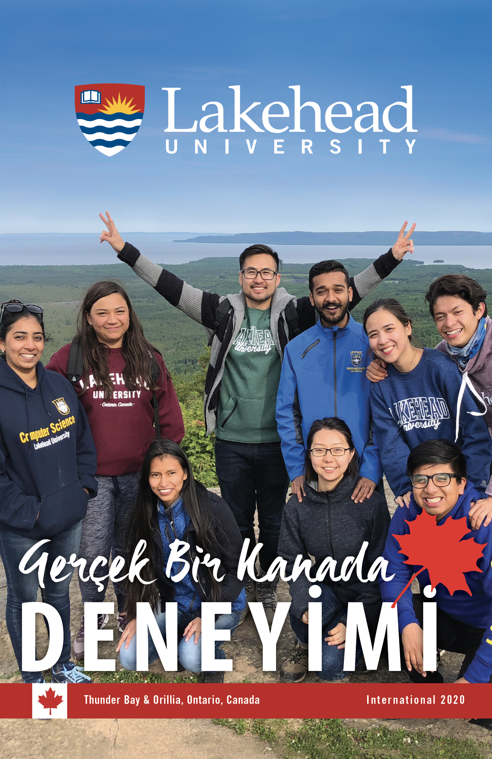 The cover of the 2020 Lakehead International Brochure in Turkish.