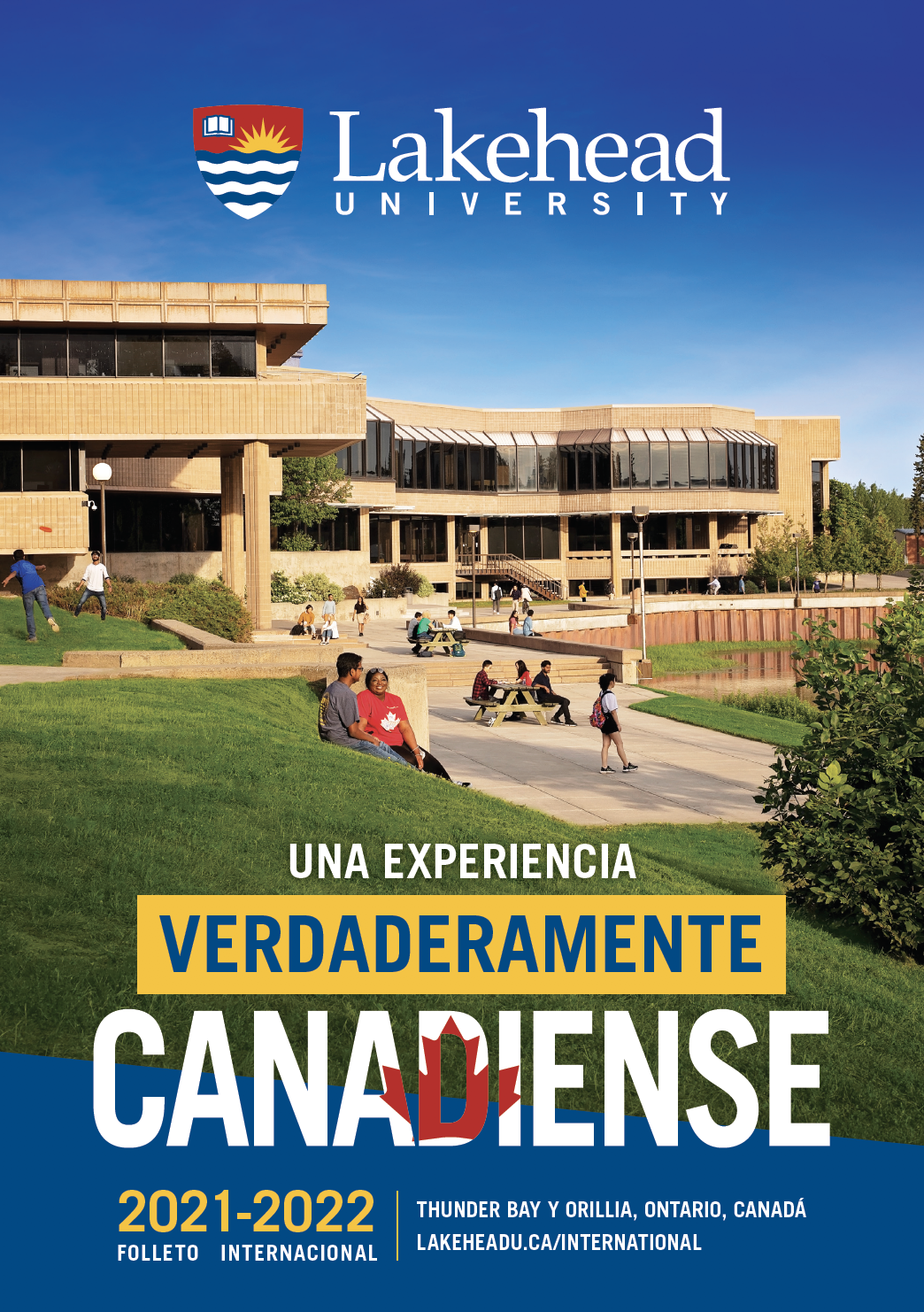 The 2021 Lakehead University International Viewbook cover.