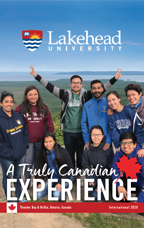 The cover of the 2020 Lakehead International Brochure in English.