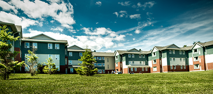 Apartment style residence building on the Thunder Bay campus