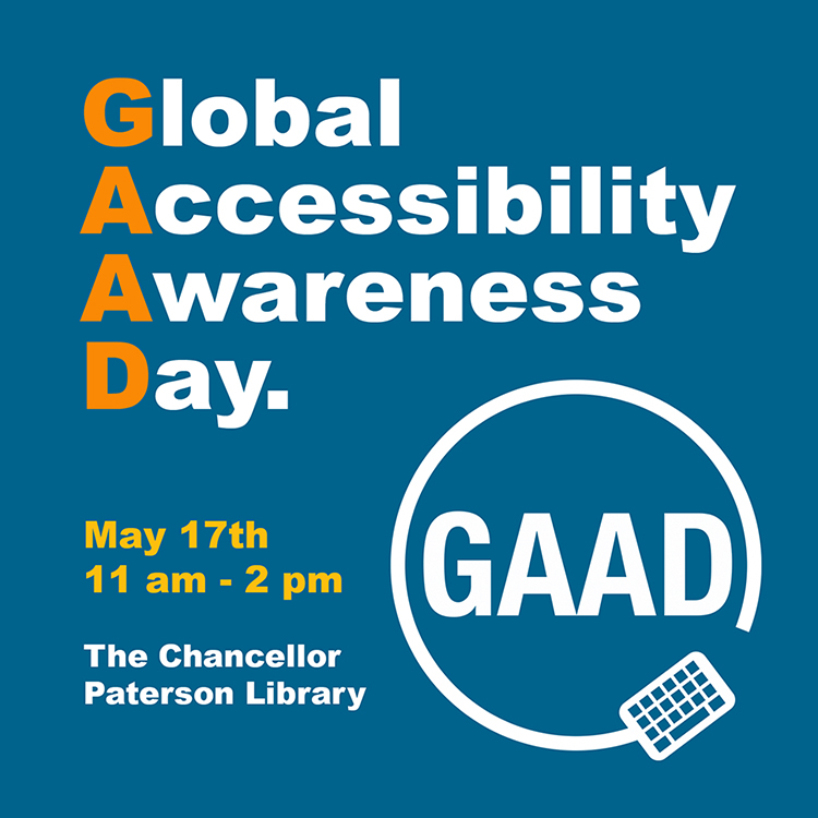Poster of Global Accessibility Awareness Day May 17, 2018