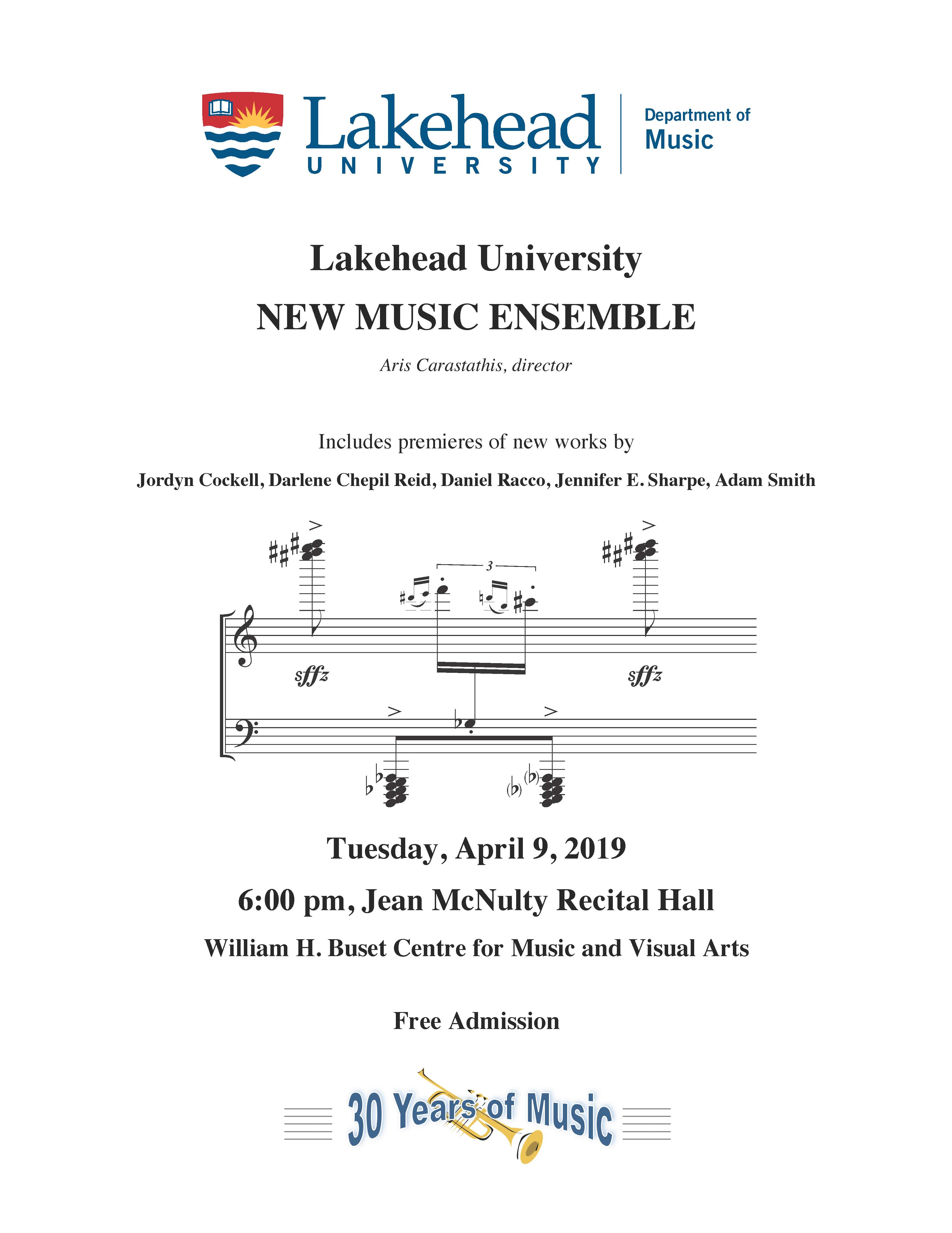 New Music Ensemble poster