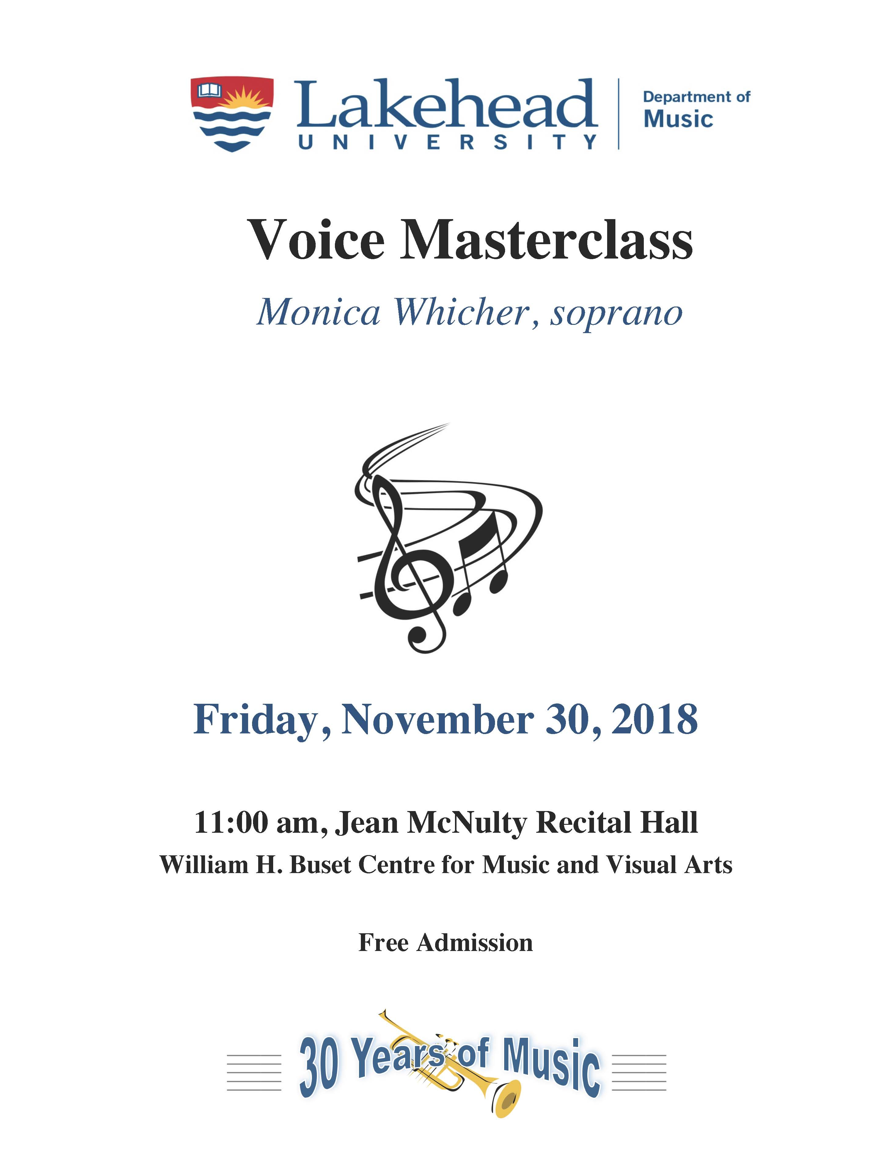 Voice Masterclass