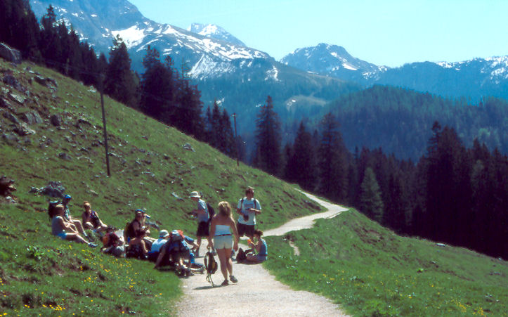 Students in the German Alps