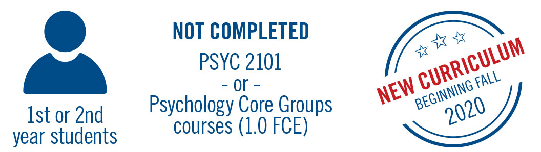 1st or 2nd year students that have not completedpsyc 2101 will be in the new curriculum beginning fall 2020