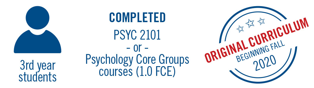 Students completed psyc 2101 will continue with the original curriculum